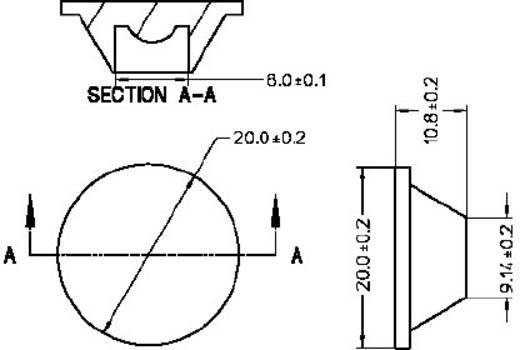 Broadcom ASMT-M030 LED-optiek Helder Transparant 30 ° Aantal LED´s (max.): 1 Voor LED: Avago®-LED type ASMT-Mxxx