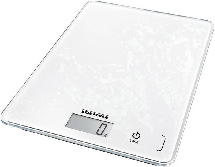 Digitale keukenweegschaal Met wandbevestiging Soehnle KWD Page Compact 300 Weegbereik (max.)=5 kg Wit