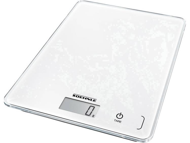 Soehnle KWD Page Compact 300 Digitale keukenweegschaal Met wandbevestiging Weegbereik (max.): 5 kg Wit