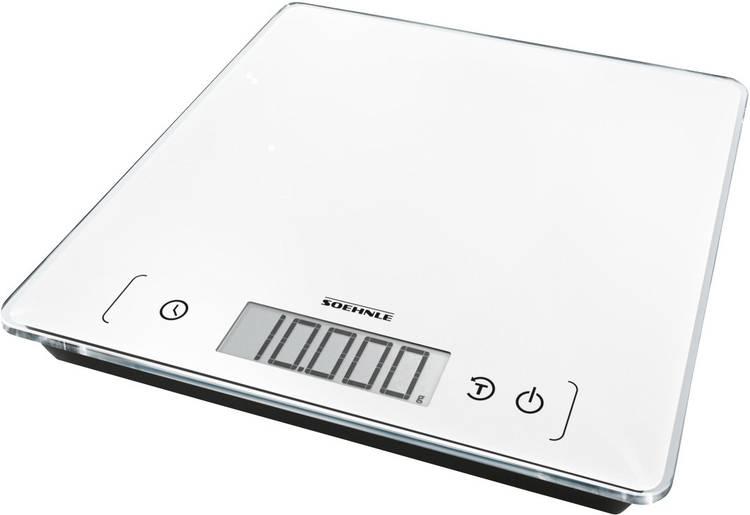 Digitale keukenweegschaal Soehnle KWD Page Comfort 400 Weegbereik (max.)=10 kg Wit