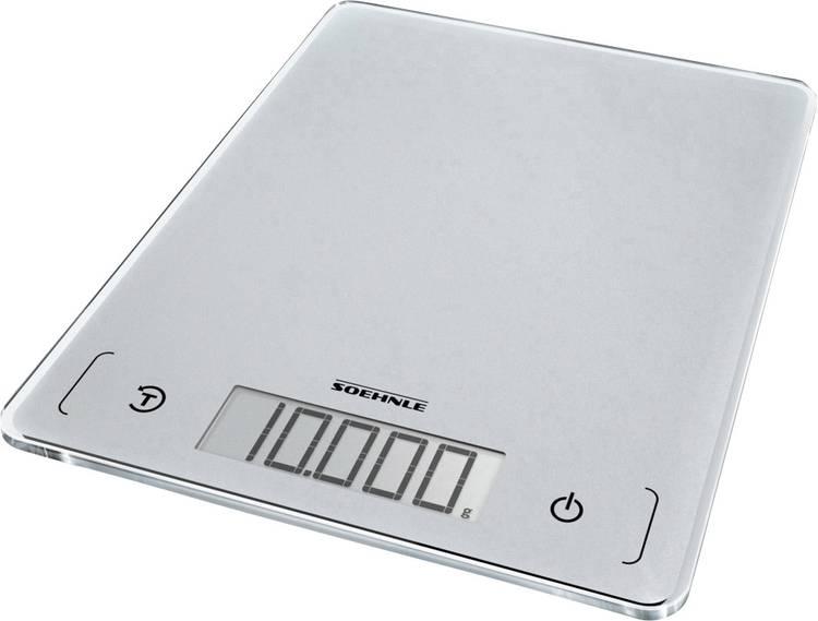 Digitale keukenweegschaal Soehnle KWD Page Comfort 300 Slim Weegbereik (max.)=10 kg Zilver-grijs
