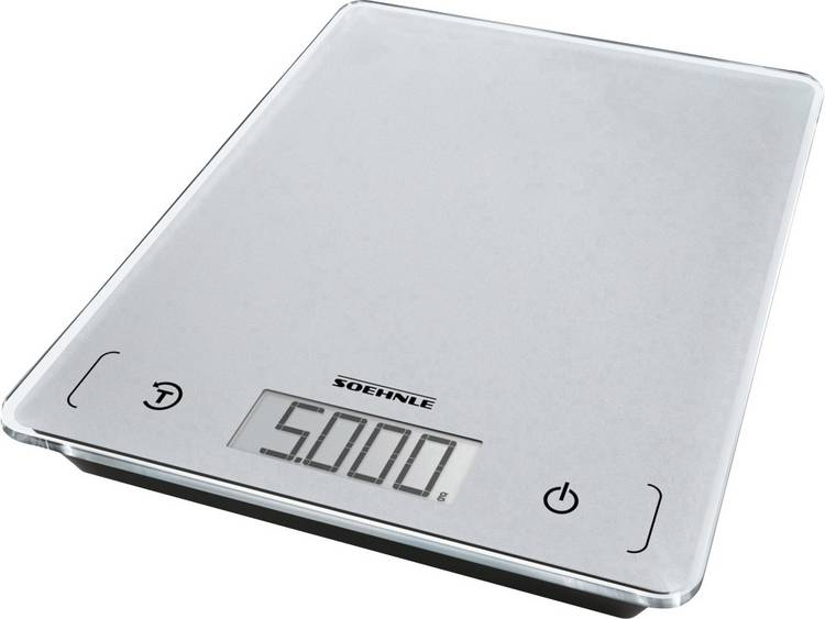 Digitale keukenweegschaal Soehnle KWD Page Comfort 100 Weegbereik (max.)=5 kg Grijs