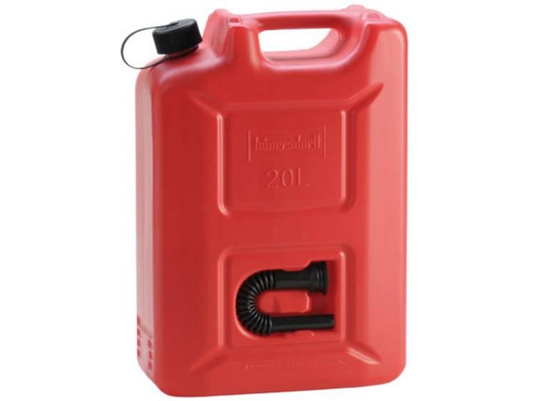 Jerrycan voor benzine Hünersdorff 802060 (l x b x h) 495 x 165 x 350 mm
