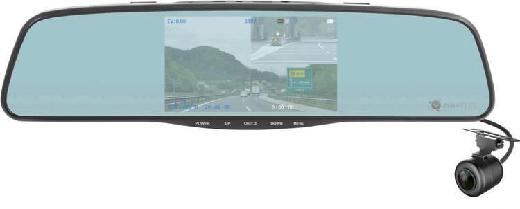 Image of NAVITEL MR250 Dashcam Kijkhoek horizontaal (max.): 160  12 V, 24 V Achteruitkijkspiegel, Display, Microfoon, Rijstrookassistent