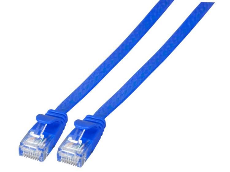 EFB Elektronik RJ45 Netwerk Aansluitkabel CAT 6A U UTP 0.5 m Blauw Zeer flexibel