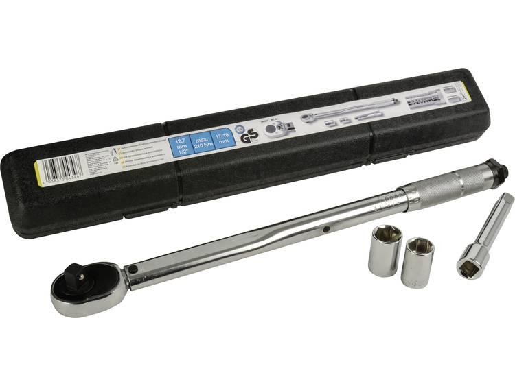 cartrend 146002 Momentsleutelset met omschakelbare ratel 1 2 (12.5 mm) 210 Nm (max)