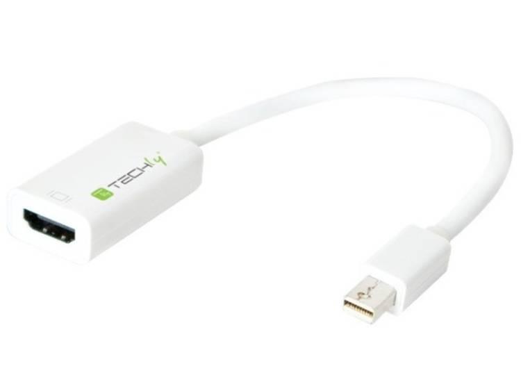 Techly 0.15m Mini DisplayPort 1.2 HDMI M-F 0.15m Mini DisplayPort HDMI Wit