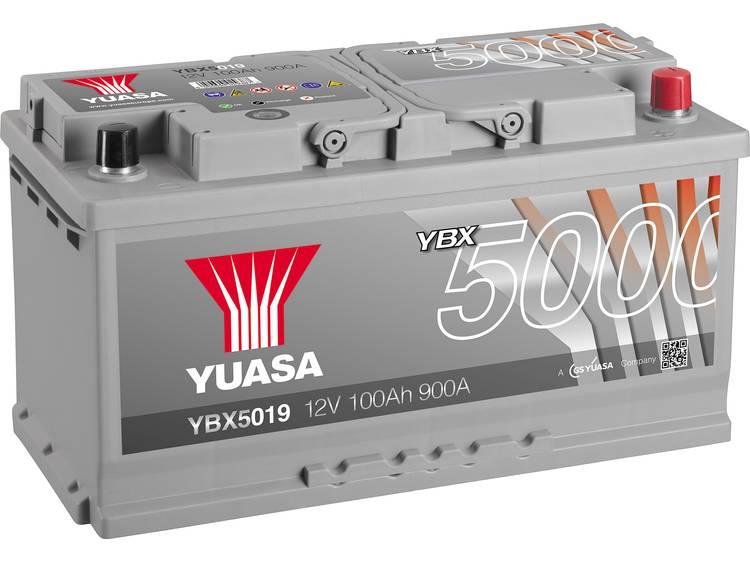 Autoaccu Yuasa YBX5019 12 V 100 Ah T1 Celopbouw 0