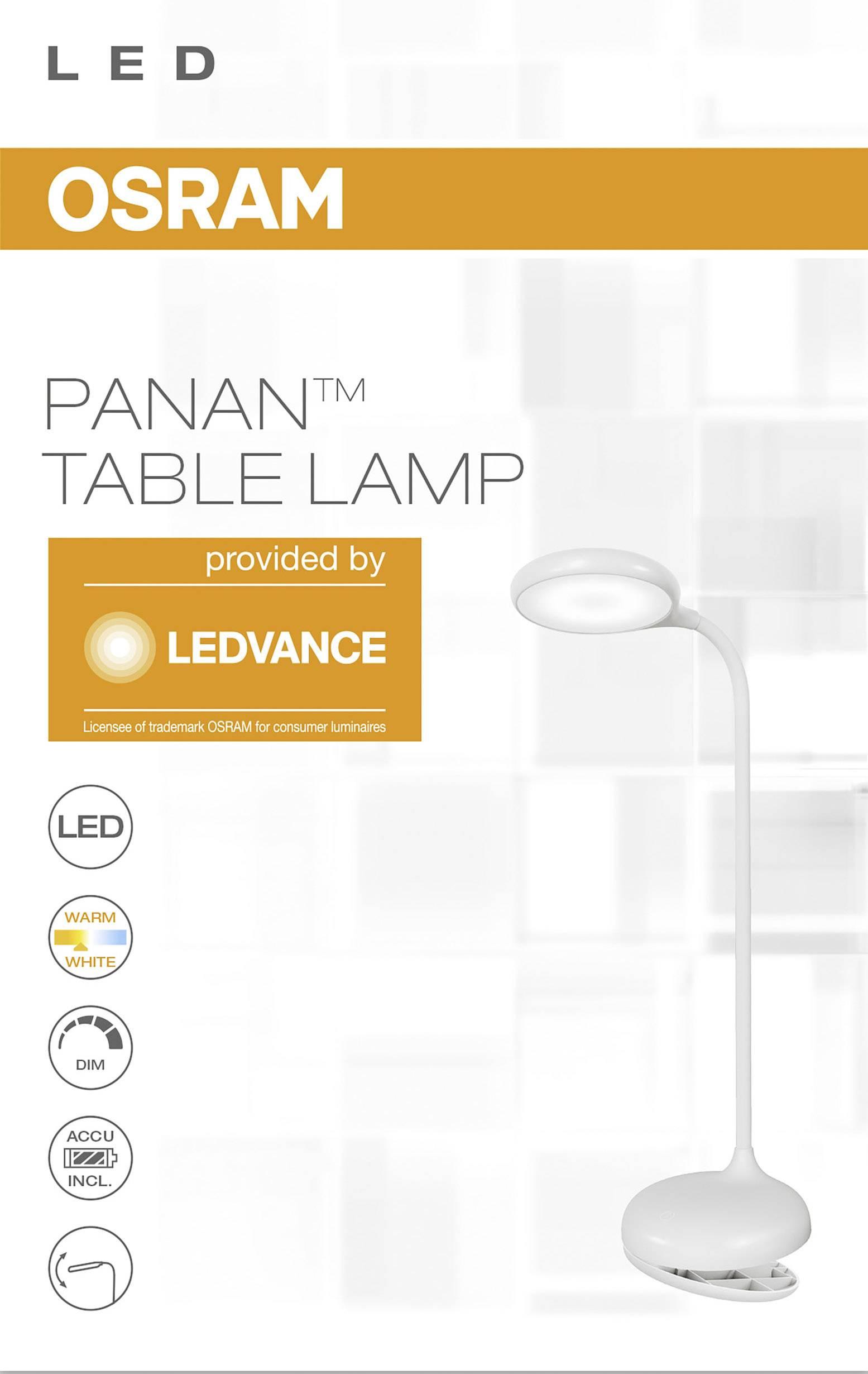 OSRAM Panan Puck Clip LED klemlamp 5 W Wit