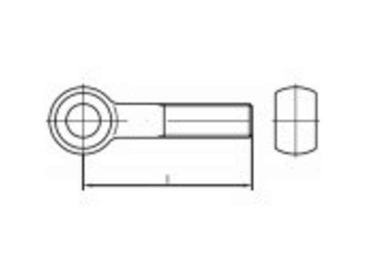TOOLCRAFT TO-5358012 Oogbouten M20 140 mm DIN 444 RVS A4 1 stuks kopen
