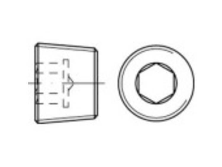TOOLCRAFT TO-5358075 Sluitschroeven M22 Binnenzeskant (inbus) DIN 906 RVS A4 50 stuks kopen