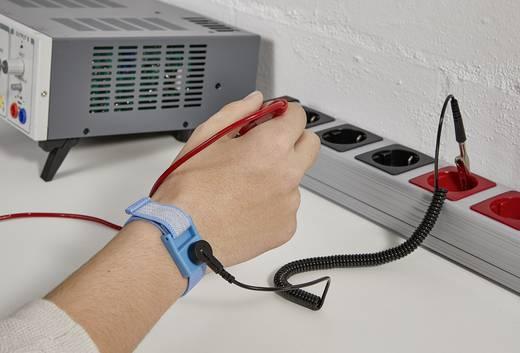 "ESD-armband Lichtblauw, Zwart Incl. aardingskabel Conrad Components SD-AS D4 Drukknop 9.52 mm (3/8"")"