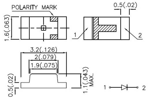 Kingbright KP-3216SRC-PRV SMD-LED 1206 Rood 100 mcd 120 ° 20 mA 1.85 V