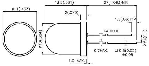Kingbright L-813SRD-D LED bedraad Rood Rond 10 mm 350 mcd 60 ° 20 mA 1.85 V