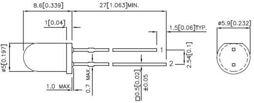 Kingbright L-57GYW LED meerkleurig Groen, Geel Rond 5 mm 20 mcd, 10 mcd 60 ° 20 mA 2.2 V, 2.1 V 1 stuks