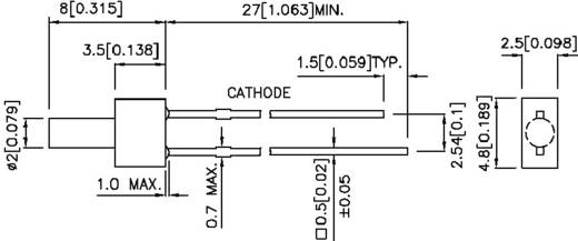 Kingbright L-13YD LED bedraad Geel Cilindrisch 2 mm 8 mcd 70 ° 20 mA 2.1 V