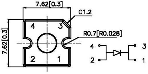 Kingbright L-7679C1SURC-G LED bedraad Rood Rechthoekig 7.6 x 7.6 mm 70 ° 70 mA 2.3 V