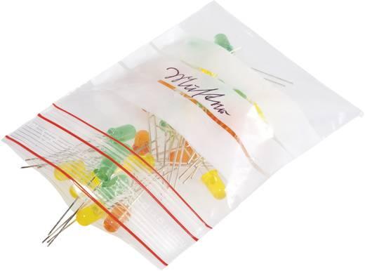 Ziplock zak met etiketstrook (b x h) 40 mm x 60 mm Transparant Polyethyleen