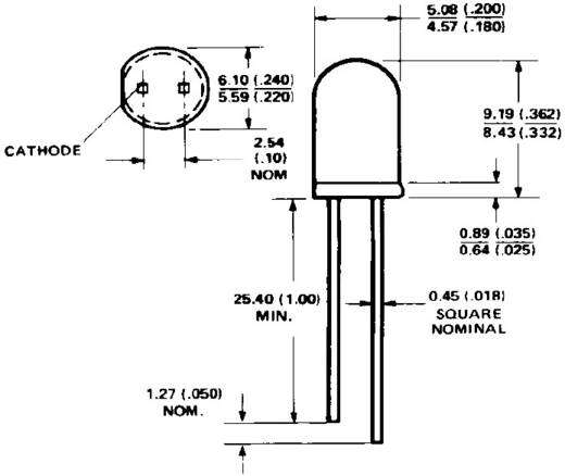Broadcom HLMP-3762 LED bedraad Rood Rond 5 mm 8.6 mcd 60 ° 10 mA 1.9 V