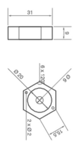 ledxon 9008057 HighPower LED-module Rood 1 W 51.2 lm 110 ° 2 V