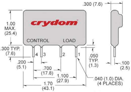 Crydom CMX60D5 Halfgeleiderrelais 1 stuks Laadstroom (max.): 5 A Schakelspanning (max.): 60 V/DC