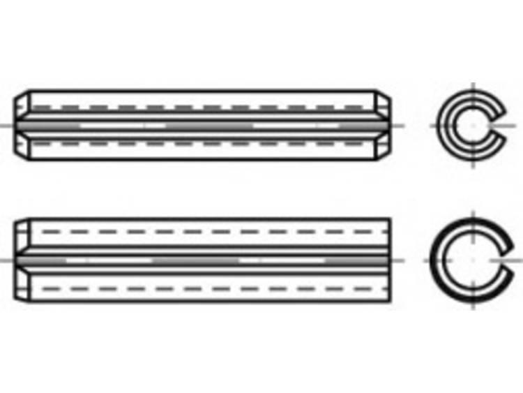 Image of Spanstiften Verenstaal TOOLCRAFT TO-5434335 100 stuks