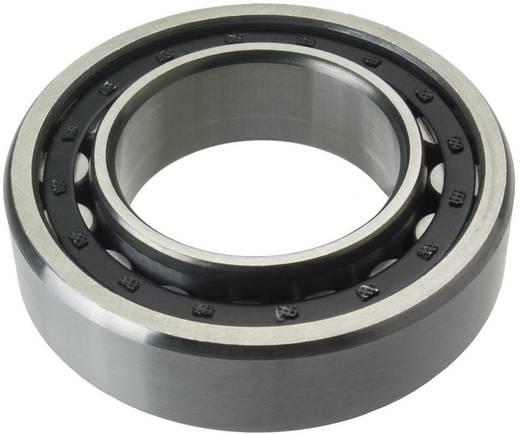 Enkele rij cilindrische kogellagers ontwerp N FAG NJ220-E-TVP2 Boordiameter 100 mm Buitendiameter 180 mm Toerental (max.) 3800 omw/min