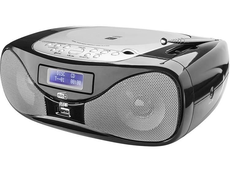 Dual DAB-P 160 FM CD-radio AUX, CD, FM, USB Zwart