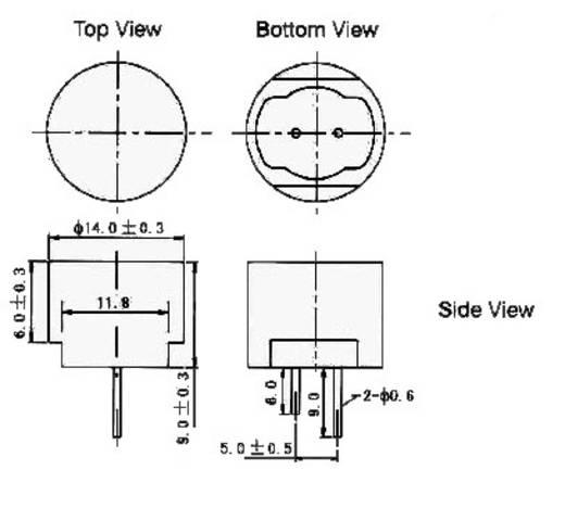 A-14P20 Ultrasoonsensor Spatwaterdicht 40 kHz (Ø x h) 14 mm x 6 mm