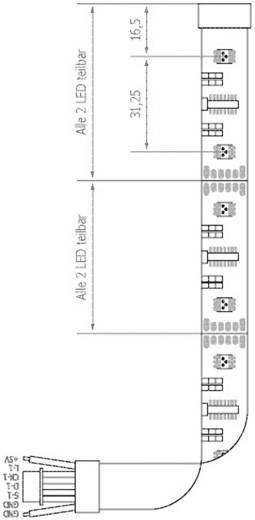 LED-strip RGB met soldeeraansluiting 5 V 500 cm ledxon RGBMAGIC IP20 9009071