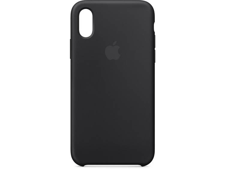 Apple iPhone Xs Silicone Back Cover Zwart