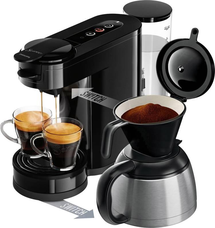 Image of SENSEO New Switch HD6591/69 Koffiepadmachine Zwart met filterkoffie-functie