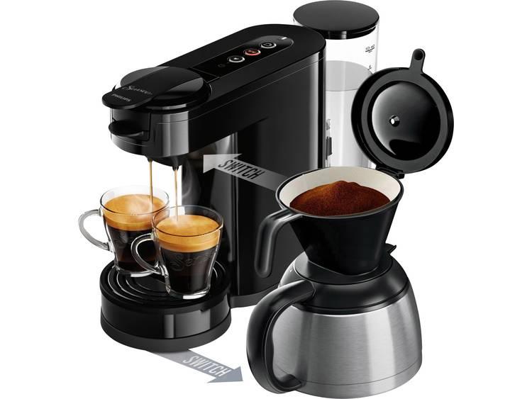 SENSEO® New Switch HD6591/69 Koffiepadmachine Zwart Met filterkoffie-functie