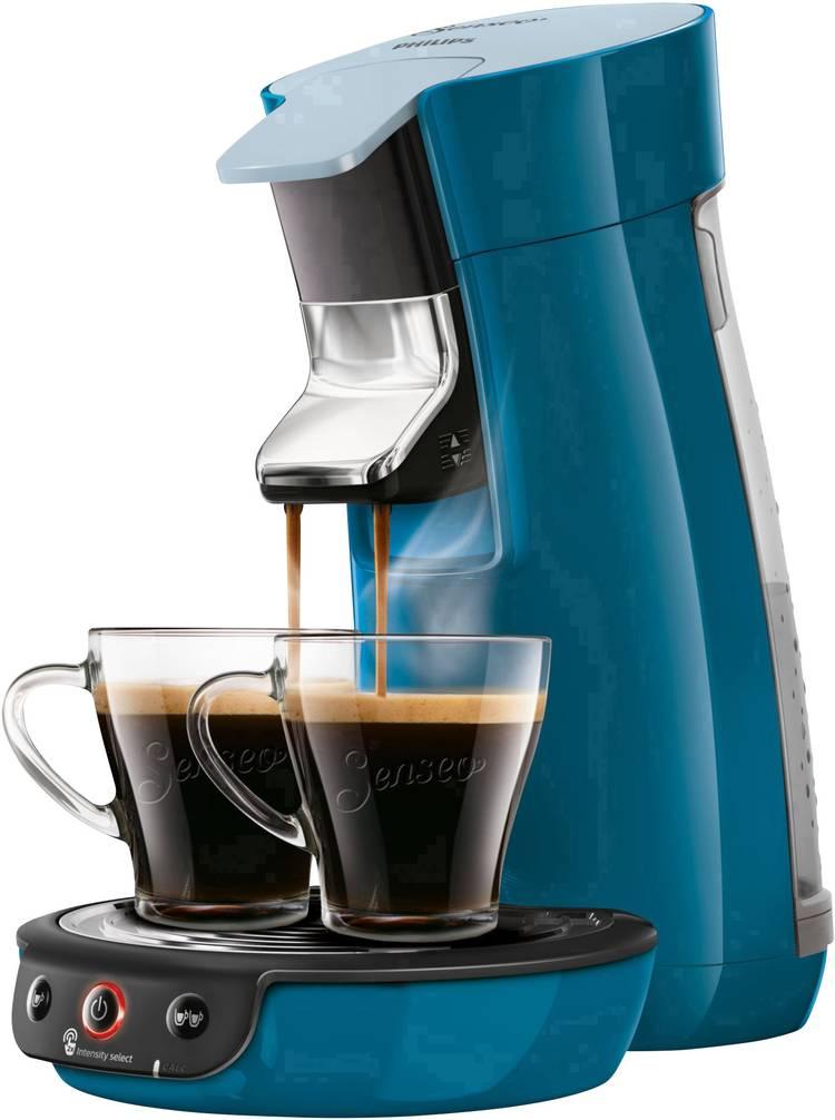Image of SENSEO Viva Cafe HD6563/70 Koffiepadmachine Blauw In hoogte verstelbare koffietuit