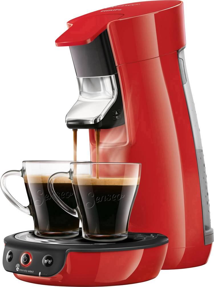 Image of SENSEO Viva Cafe HD6563/80 Koffiepadmachine Rood In hoogte verstelbare koffietuit