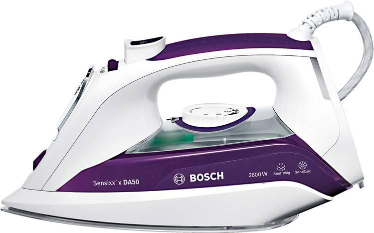 Image of Bosch TDA5028020 Stoomstrijkijzer Wit, Violet 2900 W