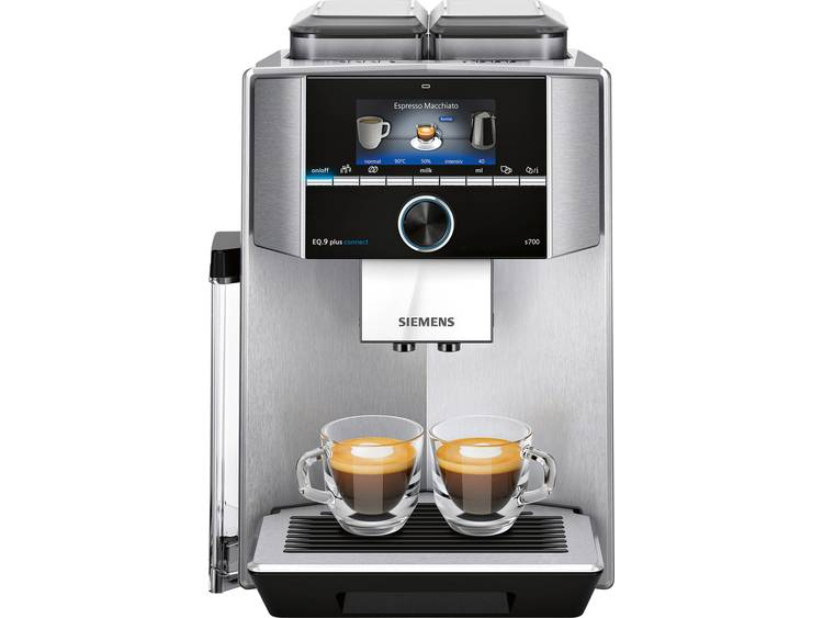 Siemens EQ 9 plus connect S700 TI9575X1DE Koffievolautomaat Zilver, Zwart
