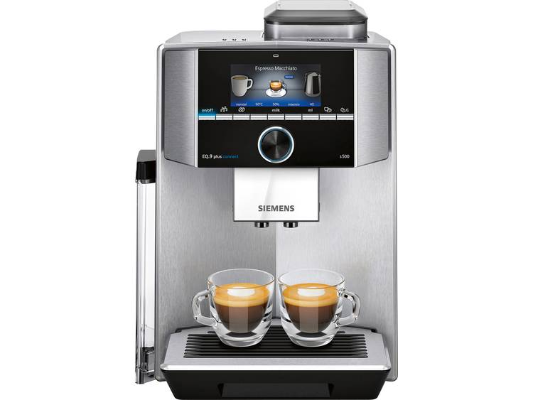 Siemens EQ 9 plus connect S500 TI9555X1DE Koffievolautomaat Zilver, Zwart