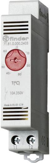 Finder 7T.81.0.000.2403 Thermostaat voor schakelkastverwarming 250 V/AC 1x NC (l x b x h) 88.8 x 17.5 x 47.8 mm