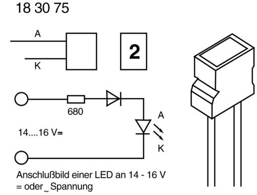 Kingbright L-1043 ID LED bedraad Rood Rechthoekig 3.65 x 6.15 mm 10 mcd 100 ° 20 mA 2 V