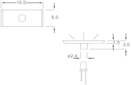 Lichtgeleider voor frontplaatmontage LEAD-17PMW (l x b x h) 15.0 x 6.0 x 3.0 mm