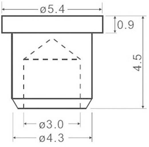 Lichtgeleider voor frontplaatmontage HHP-4A-PCW (Ø x h) 5.4 mm x 4.5 mm