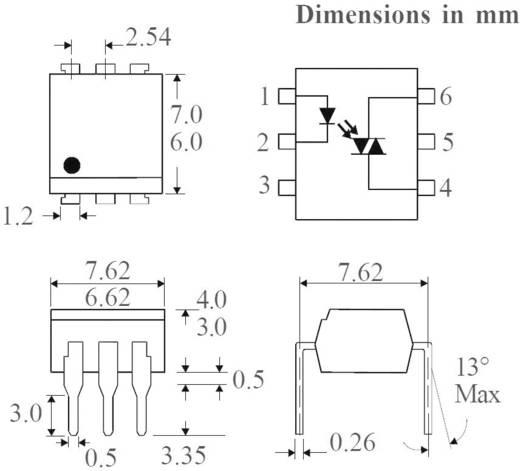 Optocoupler Triac Isocom Components MOC3023XSM SMD-6 Triac AC, DC