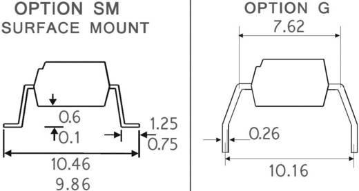 Optocoupler Schmitt-Trigger Isocom Components H11L1SMT/R SMD-6 Open collector DC