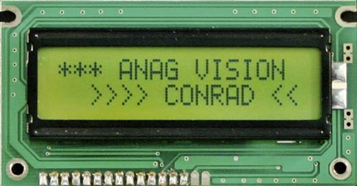 6H REFL. LC-display Zwart Geel-groen (b x h x d) 116 x 36 x 10 mm