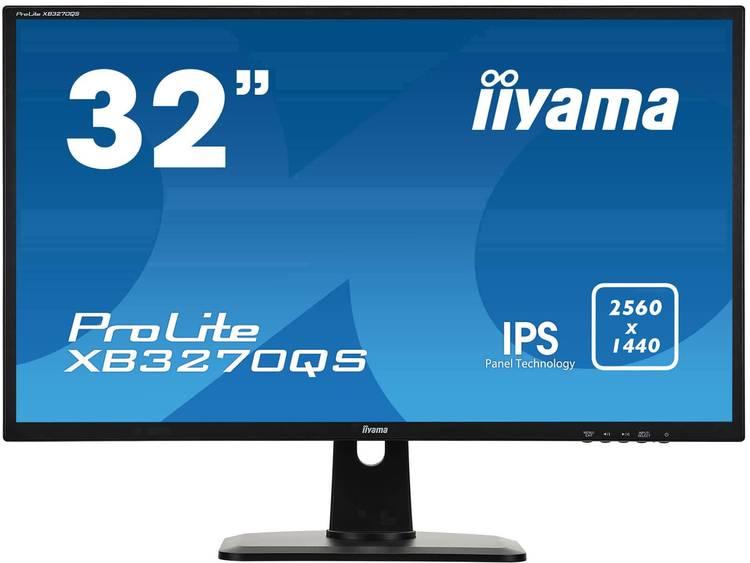 Iiyama ProLite XB3270QS-B1 LED-monitor 81.3 cm (32 inch) Energielabel C (A++ – E) 2560 x 1440 pix WQHD 4 ms DisplayPort, DVI, HDMI, Hoofdtelefoonaansluiting