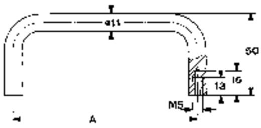Mentor 3280.1301 Draaghandgreep Aluminium (l x b x h) 131 x 11 x 50 mm 1 stuks