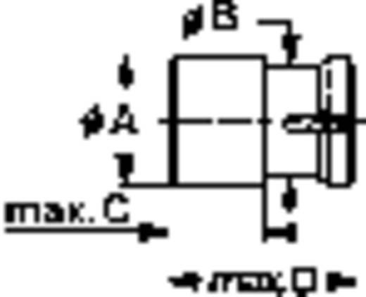 Mentor 2671.8071 Verlichtingskap Geel Geschikt voor LED 5 mm, Lamp 5 mm