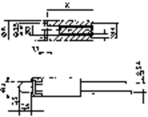 Mentor 2818.3090 LED-afstandshouder 1-voudig Zwart Geschikt voor LED 3 mm