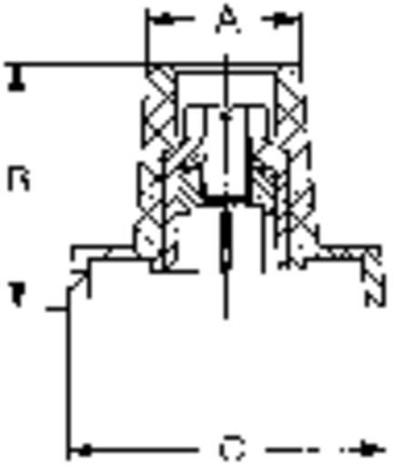 Mentor 353.61 Knevelknop Zwart (Ø x h) 25 mm x 20 mm 1 stuks